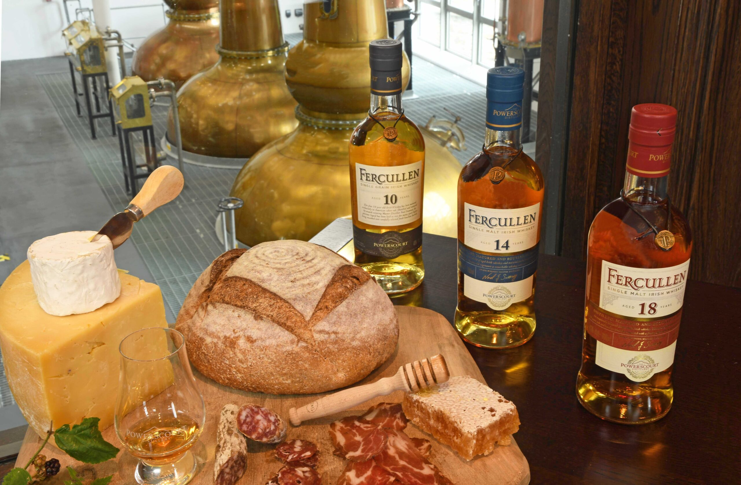 Irish food paired with Powerscourt Distillery's Fercullen range, a marriage made in gastronomy heaven!