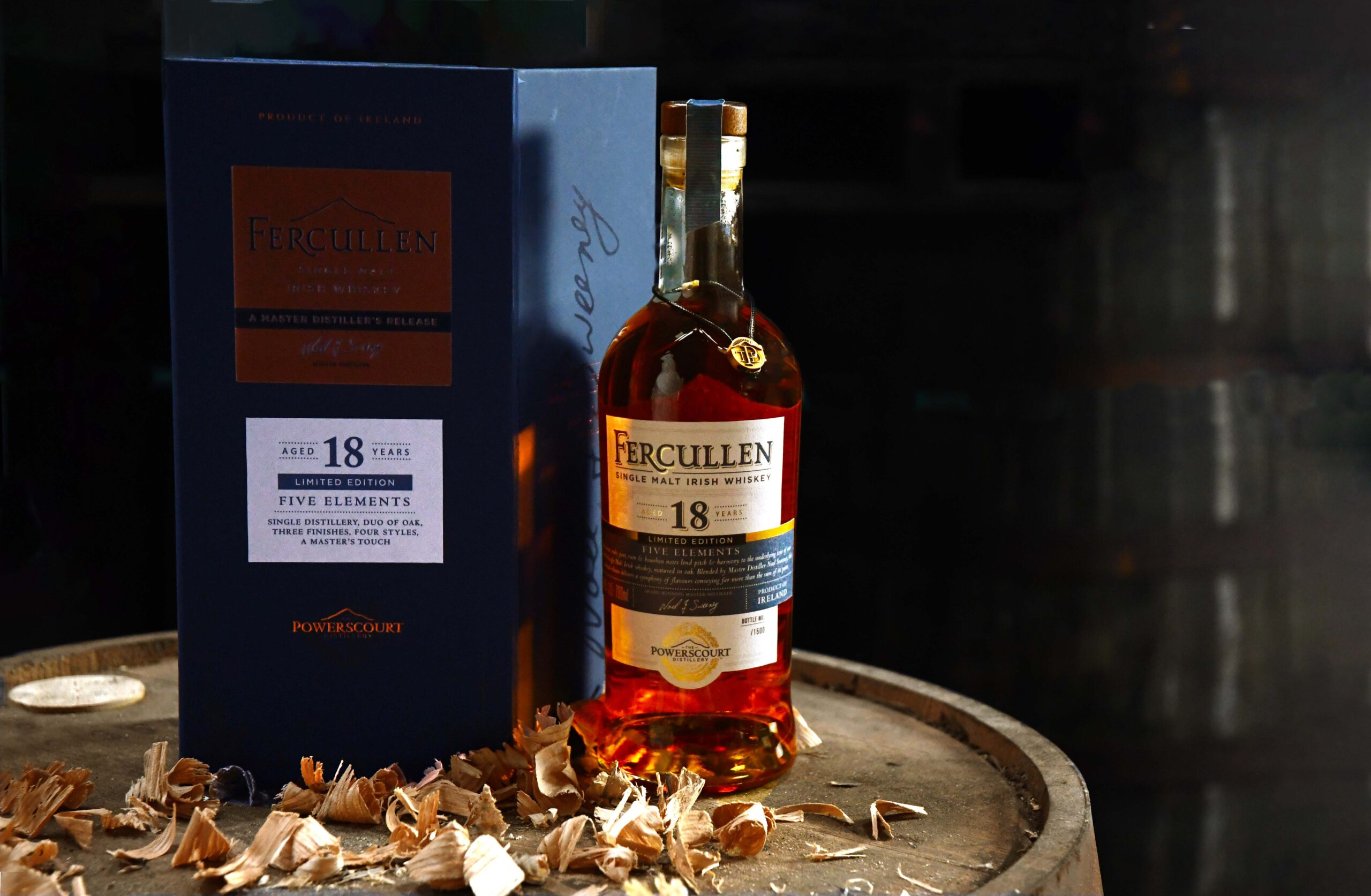 "Powerscourt Distillery Unveils a Very Special Limited Edition, Fercullen 18-Year-Old Single Malt of ""Five Elements"""