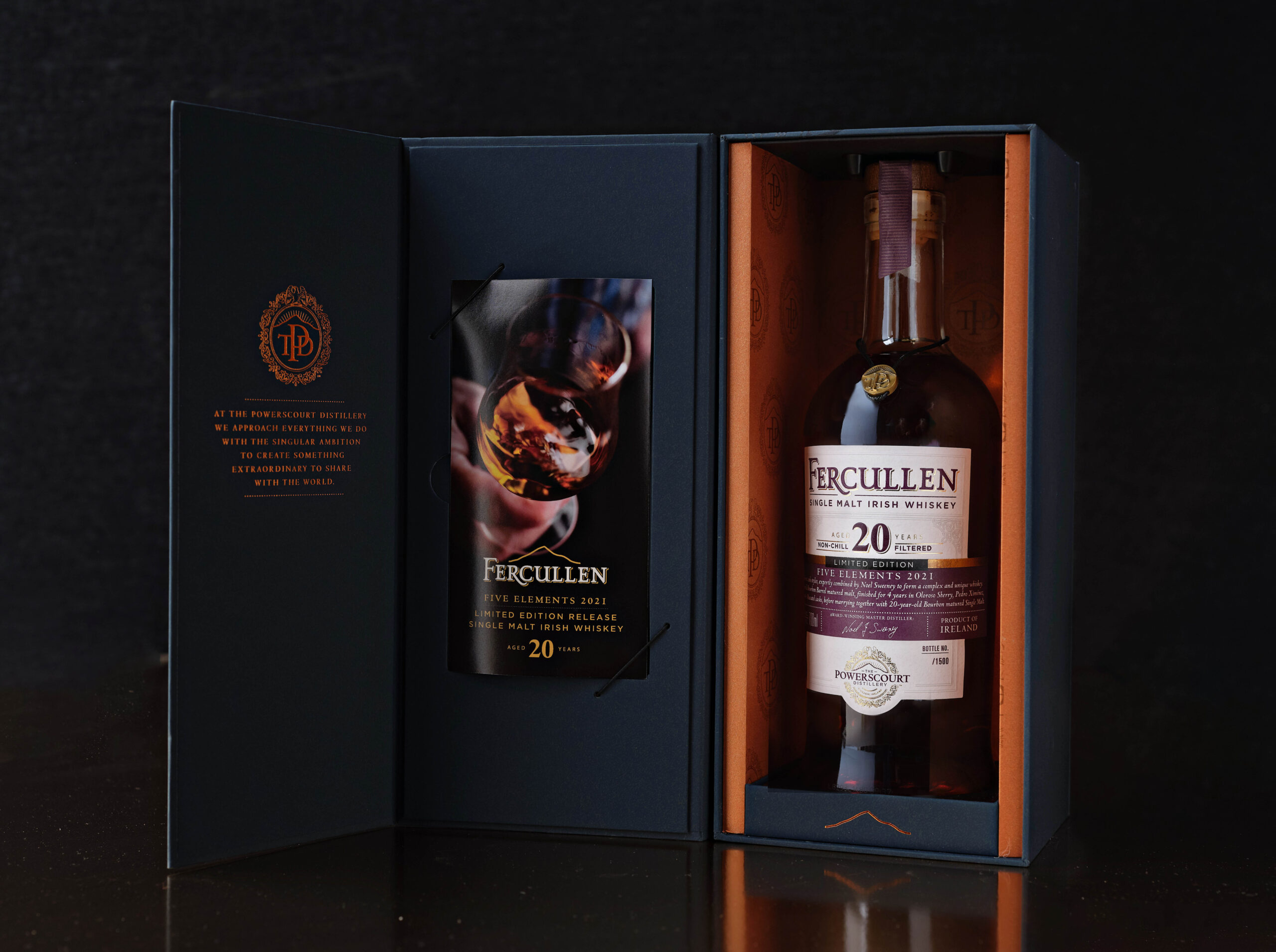 """Powerscourt Distillery Unveils the second in the series of the """"Five Elements"""" a Very Special Limited Edition,  Fercullen 20-Year-Old Single Malt showcasing the blending expertise of Master Distiller Noel Sweeney"""